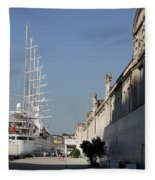 Istanbul Cruise Ship Terminal Fleece Blanket