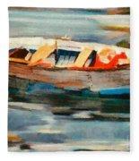 Istrian Fishing Boat Fleece Blanket