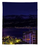 Istrian Riviera At Night Fleece Blanket