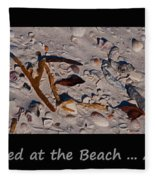 It Happened At The Beach Fleece Blanket