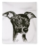 Italian Greyhound Fleece Blanket