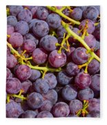 Italian Red Grape Bunch Fleece Blanket