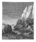 Italy: Earthquake, 1856 Fleece Blanket
