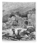 Italy: Earthquake, 1881 Fleece Blanket