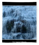 Ithaca Falls New York Closeup Fleece Blanket