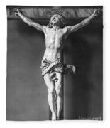 Ivory Crucifix Fleece Blanket