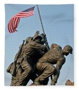 Iwo Jima Memoria 2 Fleece Blanket