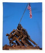 Iwo Jima Memorial Fleece Blanket