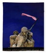Iwo Jima Memorial Front View Fleece Blanket