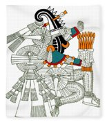 Iztlacoliuhqui, Aztec God Of Frost Fleece Blanket