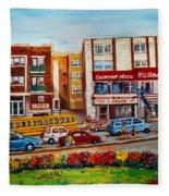 J Slawner Ltd Cote Des Neiges Fleece Blanket