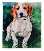 Jack Russell Woogle Fleece Blanket