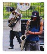 Jackson Square Jazz Fleece Blanket