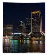 Jacksonville Florida Riverfront Fleece Blanket