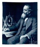 James Clerk Maxwell, Scottish Physicist Fleece Blanket