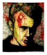 James Dean Zombie Fleece Blanket