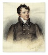 James Fenimore Cooper Fleece Blanket