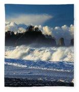 James Island Surf Fleece Blanket