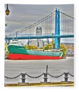James M Schoonmaker And The Hi-level Bridge Fleece Blanket
