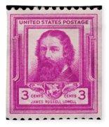 James Russell Lowell Postage Stamp Fleece Blanket
