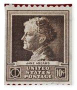 Jane Addams Postage Stamp Fleece Blanket