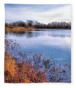 January Bass Pond 2 2012 Fleece Blanket