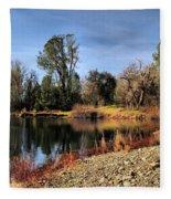 January Bass Pond 2012 Fleece Blanket
