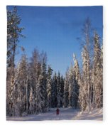 January Nr 3 Fleece Blanket