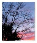 January Silhouette Fleece Blanket