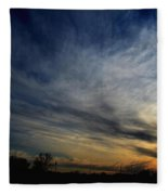 January Sunset 2012 Fleece Blanket