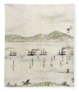 Japan: Matthew Perry, 1854 Fleece Blanket