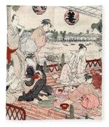 Japan: Restaurant, C1786 Fleece Blanket