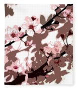 Japanese Blossom  Fleece Blanket