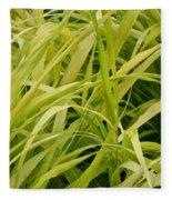 Japanese Forest Grass Fleece Blanket