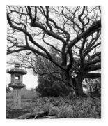 Japanese Lantern And Tree - Liliuokalani Park - Hilo Hawaii Fleece Blanket
