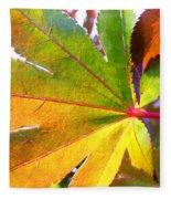 Japanese Maple Leaves 7 In The Fall Fleece Blanket