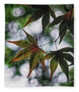 Japanese Maple Fleece Blanket
