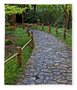 Japanese Tea Garden Path Fleece Blanket