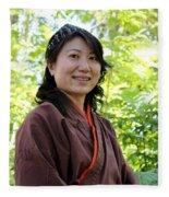 Japanese Women Fleece Blanket
