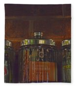 Jars Of Assorted Teas Fleece Blanket