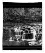 Java Falls Monochrome Fleece Blanket