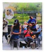 Jazz Band At Jackson Square Fleece Blanket
