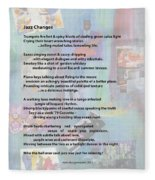 Jazz Changes - Poem Fleece Blanket