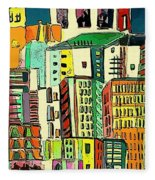 Jazz City Fleece Blanket