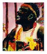 Jazz Musician Fleece Blanket