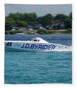 J.d. Byrider Offshore Racing Fleece Blanket
