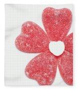 Jelly Candy Heart Flower 1 Fleece Blanket