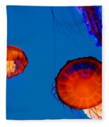 California Monterey Aquarium Jellyfish Exhibit  Fleece Blanket