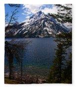 Jenny Lake In The Grand Teton Area Fleece Blanket