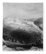 Jerusalem: Mount Zion Fleece Blanket